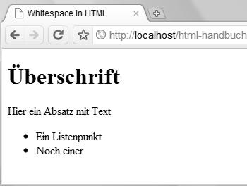 Whitespace Und Interpretierte Bereiche In Html Webkompetenz